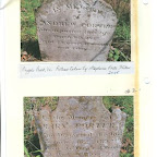 Picture described in letter showing Andrew Porter, died 1853 grave and Mary (Gleaves) Porter, died 1832 grave
