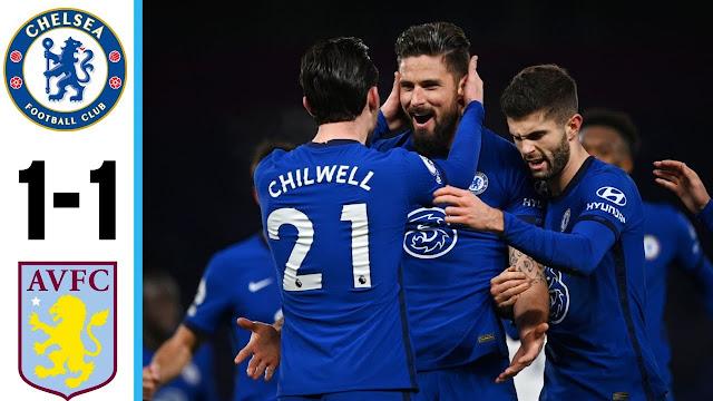 Chelsea Sekadar Seri Dengan Aston Villa.