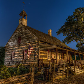 St. Philips Moravian Church by Jeremy Yoho - Buildings & Architecture Public & Historical ( african american, moravian, night photography, church, night, historic,  )