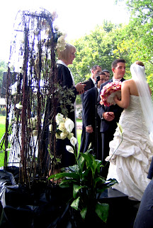 Reverend Cindy Shepherd presides at the wedding of  Erin Mitchell and Thomas Favot  1st Choice Music Personal photo