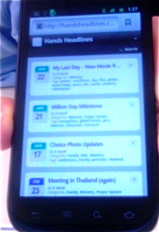 HandsHeadlines Mobile Version