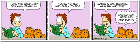 Early to bed - Garfield, June 25, 2018 color