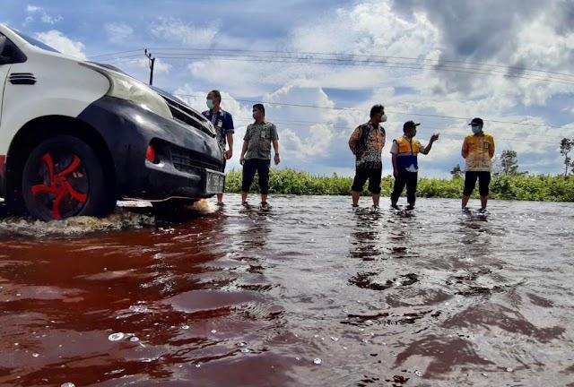 Kadis PUPR Kalteng Koordinasi Bersama Balai Jalan Antisipasi Banjir