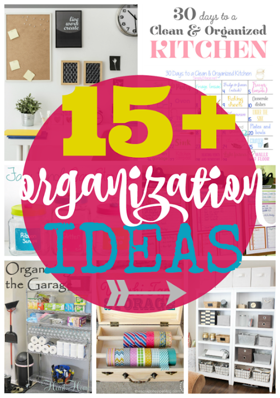 15  Organization Ideas at GingerSnapCrafts.com #organization #goals