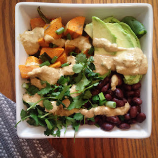 Southwest Salad Bowl with Tahini Lime Dressing