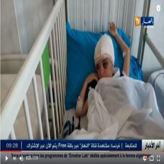Vidéo- Depuis le CHU de Tizi-Ouzou où est hospitalisé l'enfant Jugurtha, victime d'un kidnapping