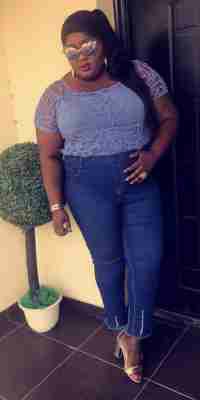Eniola Badmus Looks Fabulous In Blue