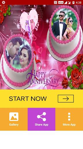 ... Anniversary Cake Dual Photo Frame ...