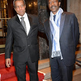 WWW.ENTSIMAGES.COM -   Hugh Quarshie   and   Clarke Peters  arriving     at       Anti-Slavery International 175th Anniversary Ball at Grosvenor House, London September 27th 2014Ball to celebrate the 175th anniversary of the Anti-Slavery International organisation. The event represents the continued campaign to end modern day slavery.                                                  Photo Mobis Photos/OIC 0203 174 1069