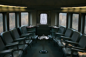 Lounge at the end of the dome car