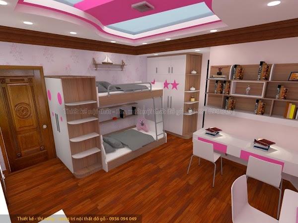 Thiết kế phòng ngủ đẹp cho con