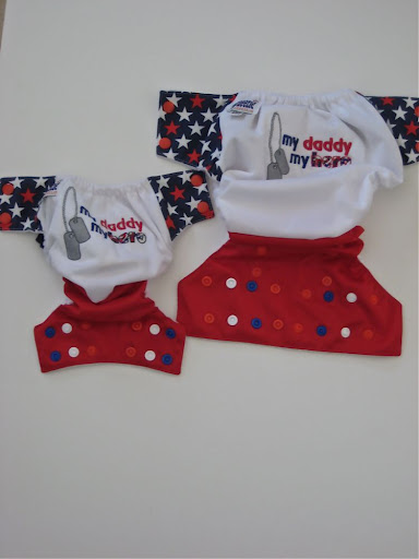 Custom order My Daddy My Hero Embroidered Celebration Pocket/AI2/Cloth Diaper/Cover