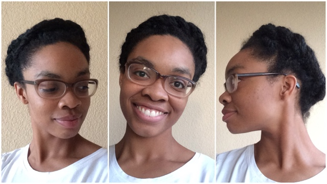natural hair styling two-strand twist updo 4c 4b hair kinky curly