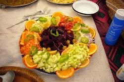 De bonnes salade préparé par Saïd