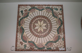 Cream, Flooring, Flooring & Mosaics, Green, Interior, Marble, Mosaic, Natural, Red, Stone, Tile, Tumbled
