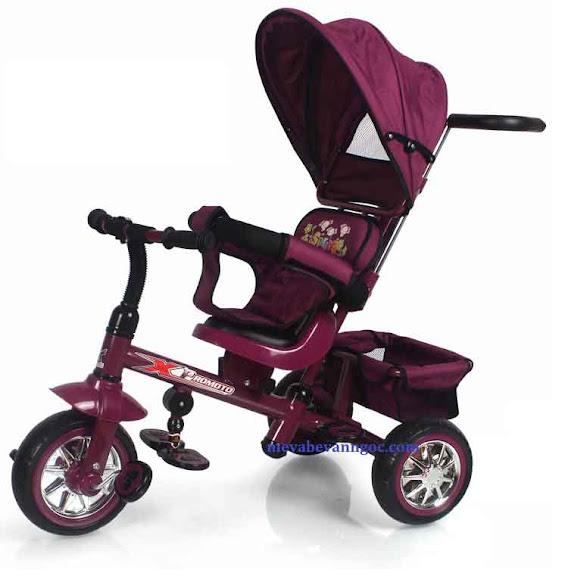 Xe đẩy trẻ em ba bánh 32-2 màu nâu