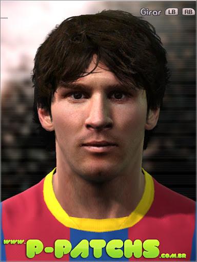 Lionel Messi Face para PES 2011 PES 2011 download P-Patchs