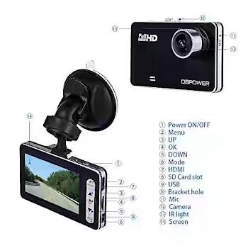 DBPOWER W20 2.7 Dash Cam