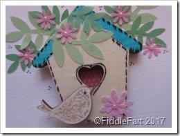 Bird House and Little Bird Card Wooden Embellishments