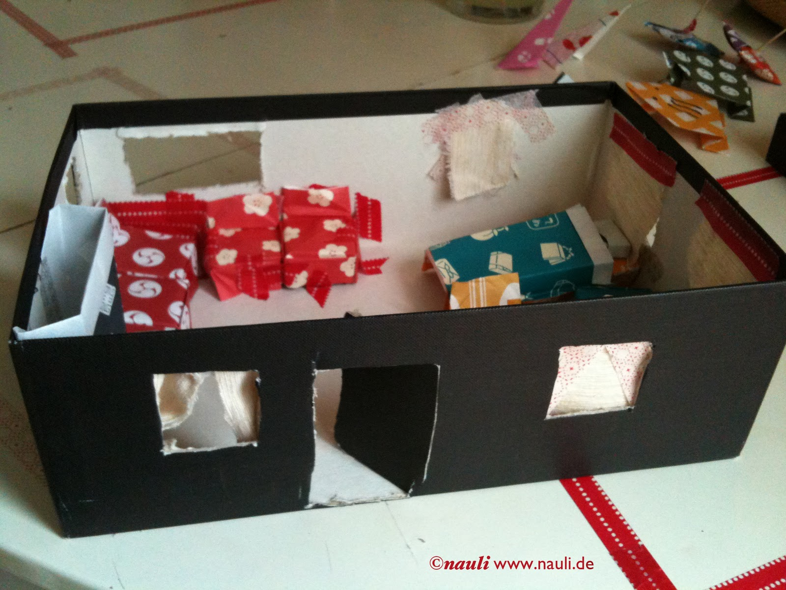 sunday masking tape  origami fun  simple table