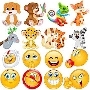 😂Emoji emoticons for whatsapp WAStickerApps
