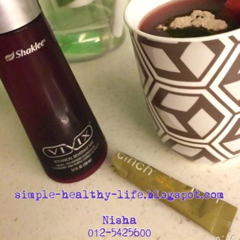 Vivix dan cinch tea Shaklee bagus untuk kurus dan tambah tenaga.