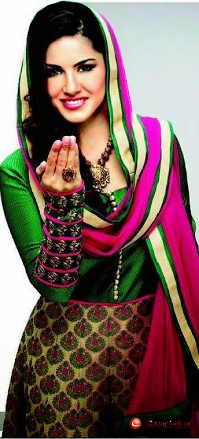 Sunny Leone in Punjabi Suit Images
