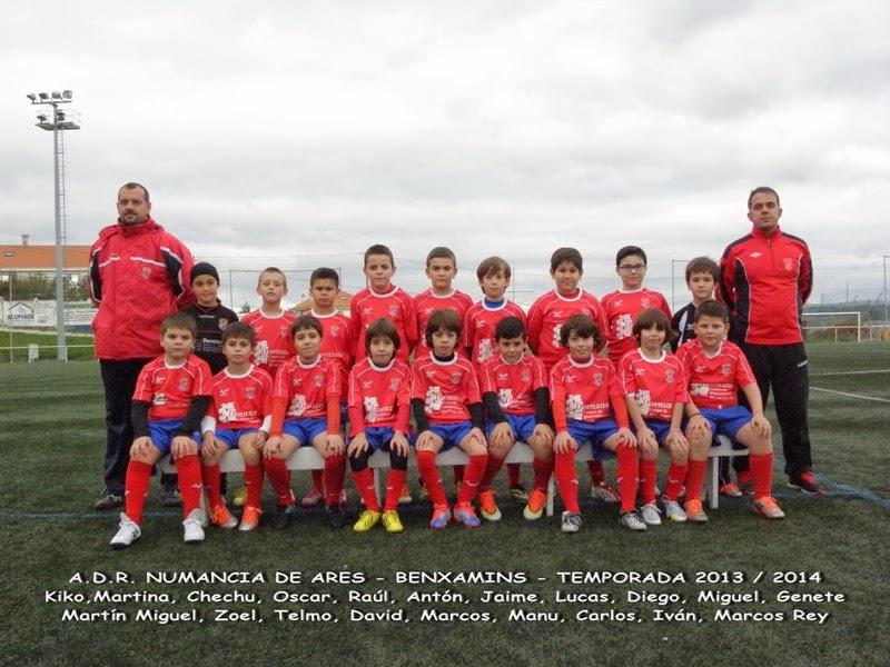 Numancia de Ares ADR. Equipo benxamín temporada 2013-2014.