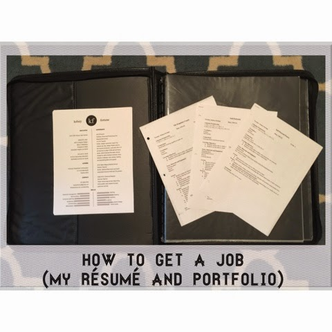 How to get a job (my résumé and portfolio) | Kelsey Fortune - Art Teacher | kelseyfortune.blogspot.com