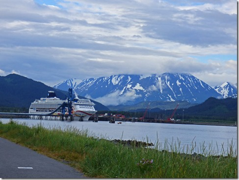 Norwegian Sun in dock, Seward