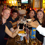 drinking with friends at ONTAP in Taipei in Taipei, T'ai-pei county, Taiwan