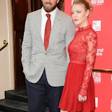 WWW.ENTSIMAGES.COM -    Chris Robshaw and Camilla Kerslake   arriving  at     Great Britain - press night at Theatre Royal Haymarket, London September 26th 2014West End Opening at Theatre Royal Haymarket for Richard Bean's GREAT BRITAIN -  Play about an ambitious tabloid editor in production described as anarchic satire about the press, the police and the political establishment.                                                    Photo Mobis Photos/OIC 0203 174 1069