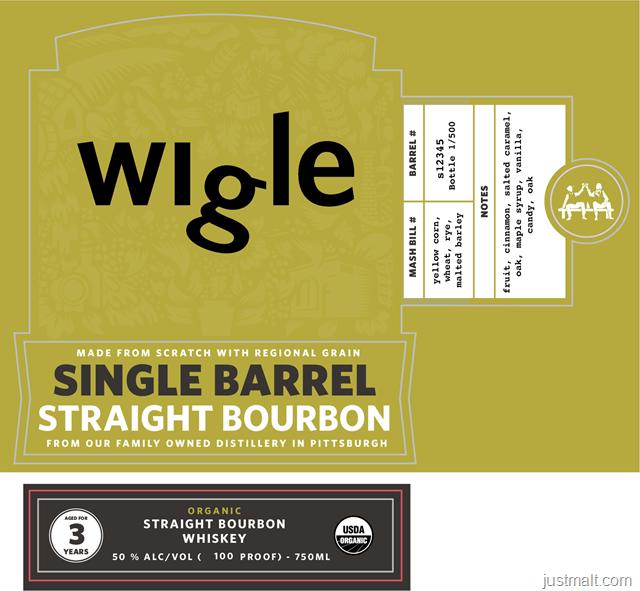 Pittsburgh Distilling Wigle Singe Barrel Straight Bourbon