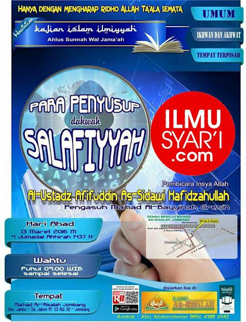 Para Penyusup Dakwah Salafiyyah - Ustadz Muhammad Afifuddin