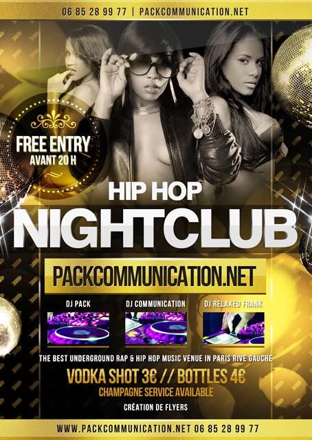 création flyer soirée thème Hip Hop Black Beautiful