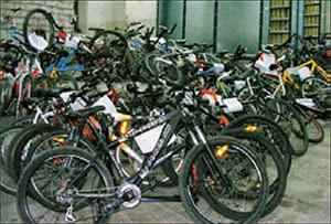 Exposición de bicis robadas en Madrid