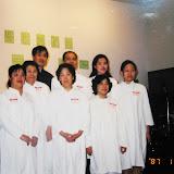 First baptism ceremony. 2002-01-12 第一屆洗禮