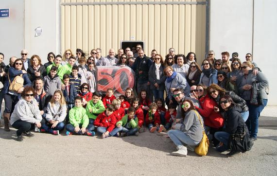Fra Pere Vives-Bilbao, visita los talleres de sus artistas falleros