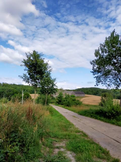 droga prowadząca do gospodarstwa