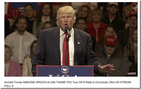 Donald Trump AMAZING SPEECH at USA THANK YOU Tour 2016 Rally in Cincinnati