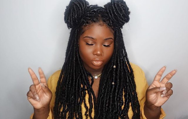 ivy league styles with black crochet locs