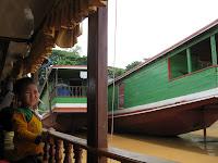 Mekong slow boat to Luang Prabang - Day 1