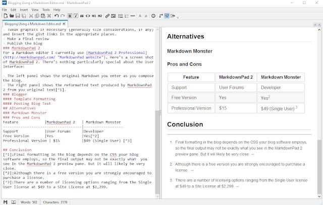 MarkdownPad Screen