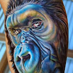 Tattoo wonderful monkey - tattoos for women