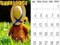 Calendario del Mes de Abril - Mes de los Niños