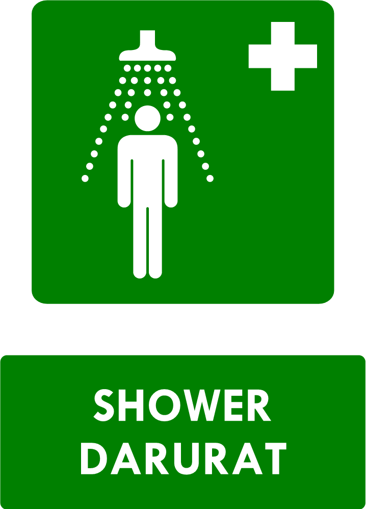 Rambu Shower Darurat