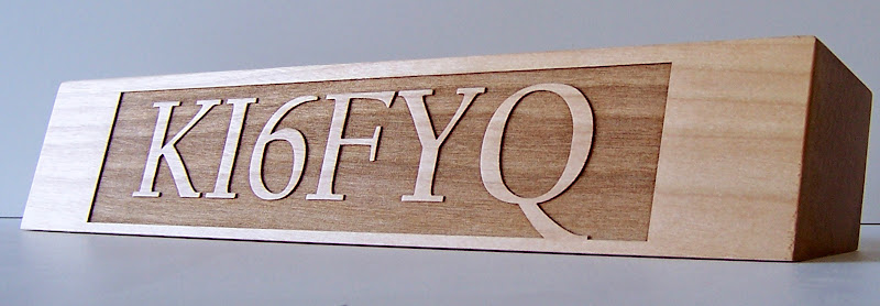 Head Honcho Maple Custom Call Sign Desk Plaque