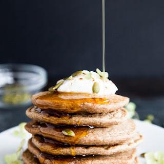 Chai Spice Oat Flour Blender Pancakes.
