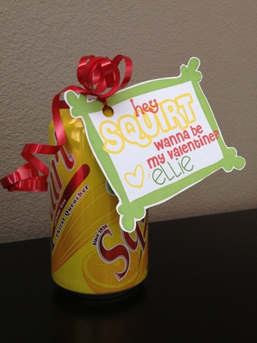 Soda Can Valentine Free Printable