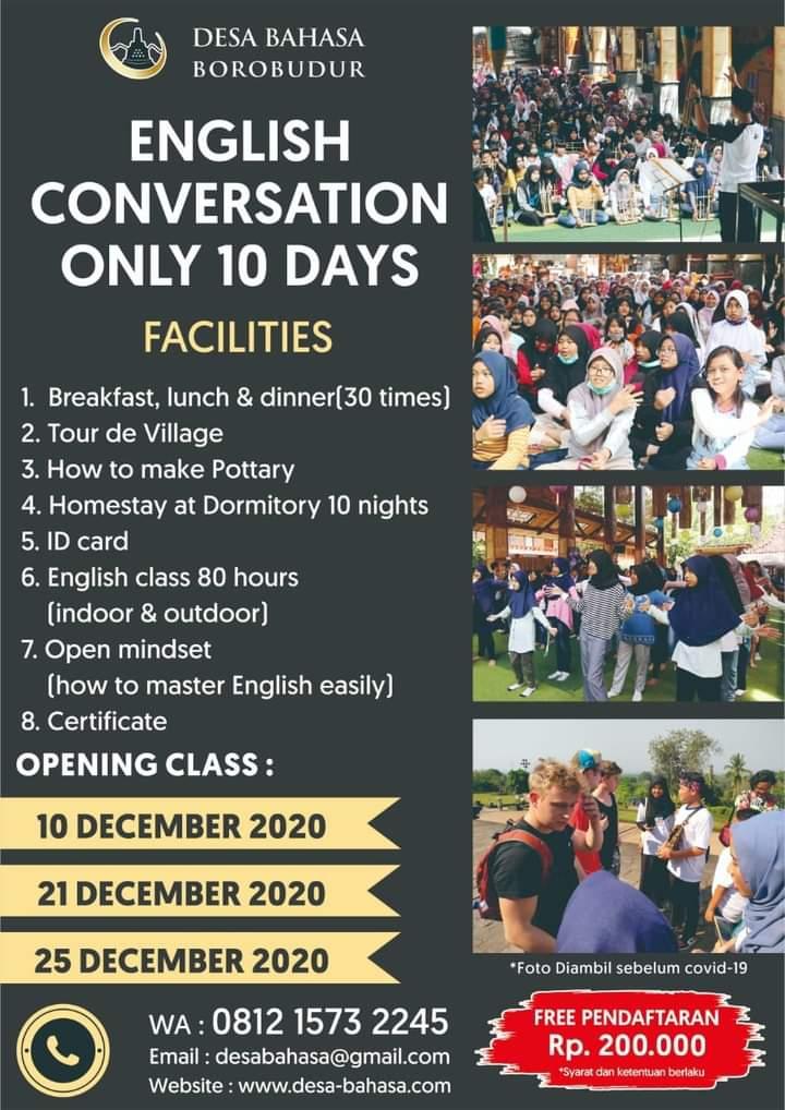 GARANSI BELAJAR SEUMUR HIDUP, di Bulan Desember Program Kursus Bahasa Inggris